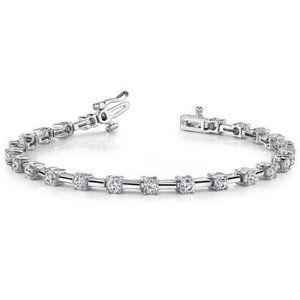 3 carats round diamond ladies bracelet white gold